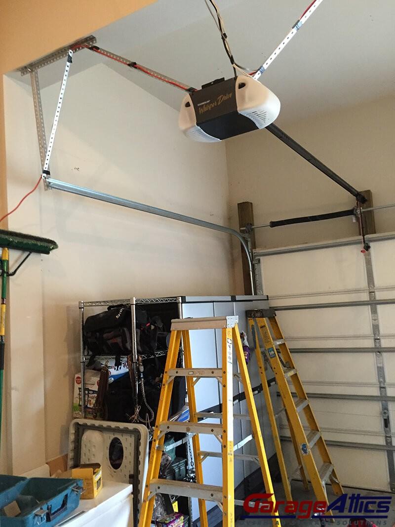 Loft storage solutions custom built massive overhead for Garage storage loft designs