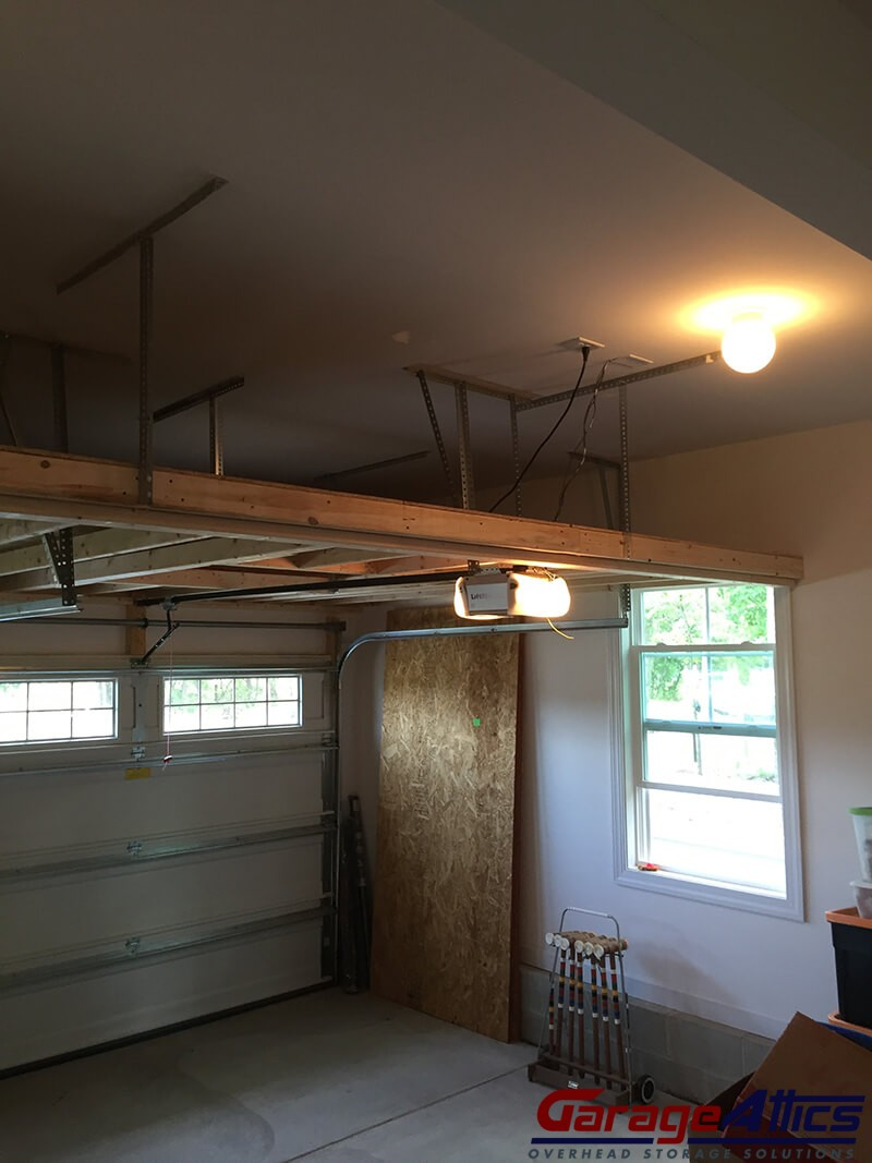 Work Garage With Loft : Garage storage loft solutions custom overhead