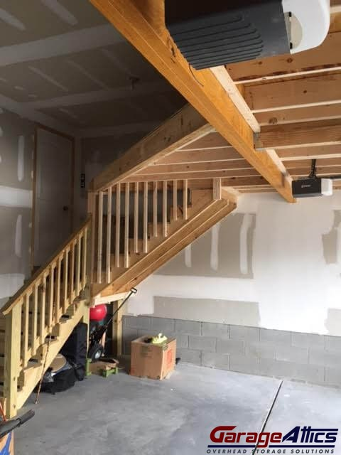 Build Stairs To Garage Attic Image Balcony And Attic