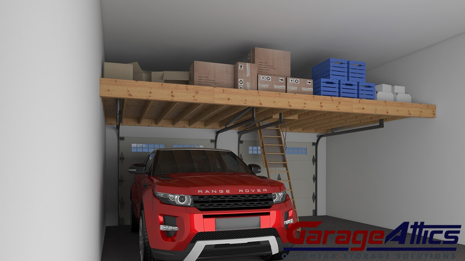 Garage storage ideas custom overhead storage lofts for How to build a garage loft