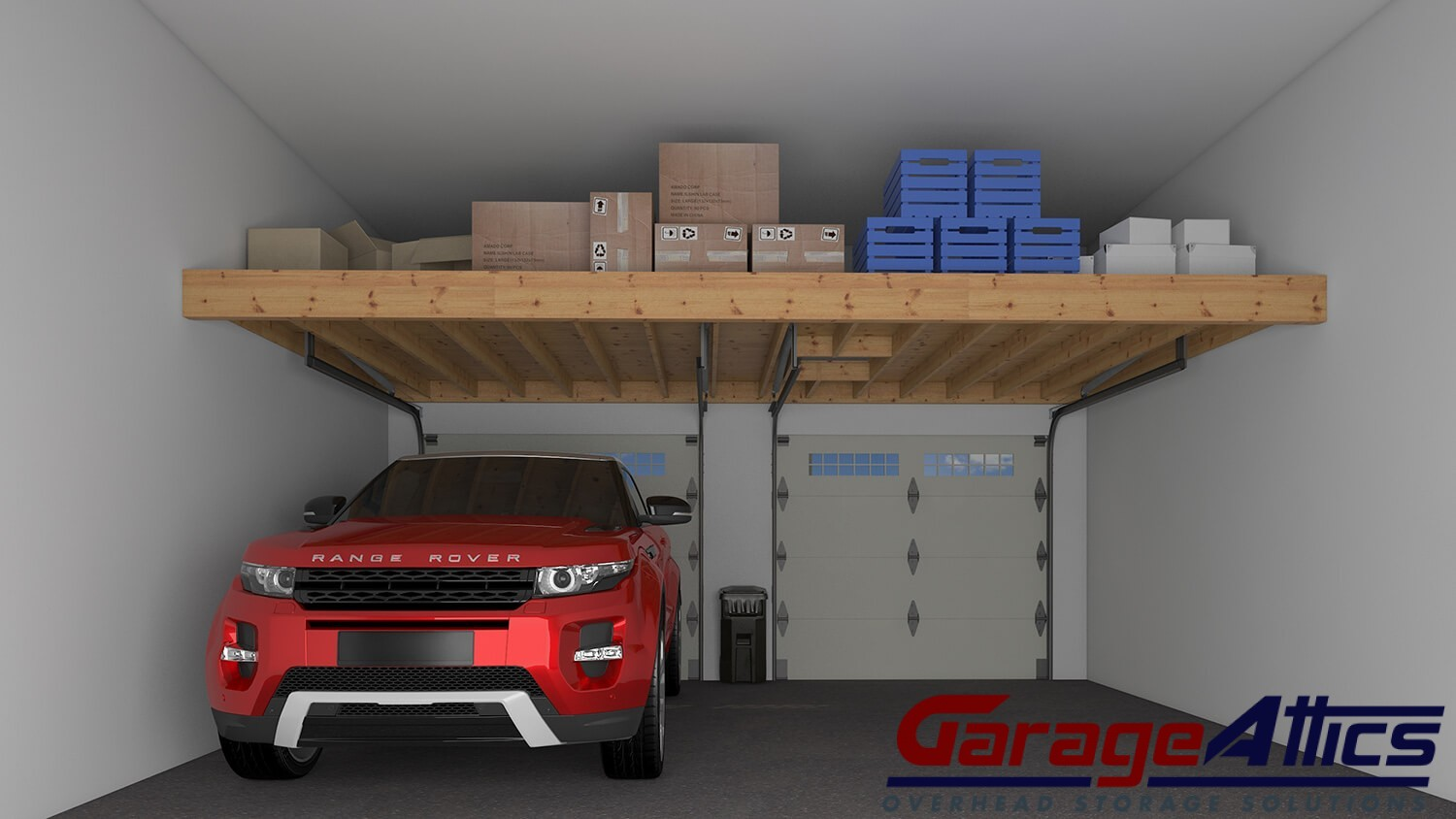Garage storage ideas custom overhead storage lofts for Garage plans with storage