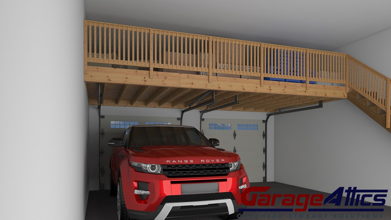 how to build a garage loft shelf