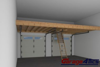 Massive overhead garage storage solutions for raleigh nc homes for How to build a garage loft